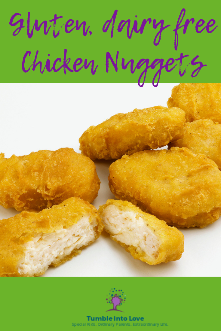Gluten and dairy free chicken nuggets recipe that will make your kids think you stopped at the drive thru! #dairyfree