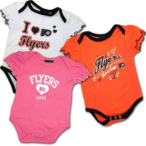24431423b1f Flyers Infant Girl Body Suits #Philadelphia #flyers #outfit #bodysuits  #onesies #baby #infant #hockey #babyfans