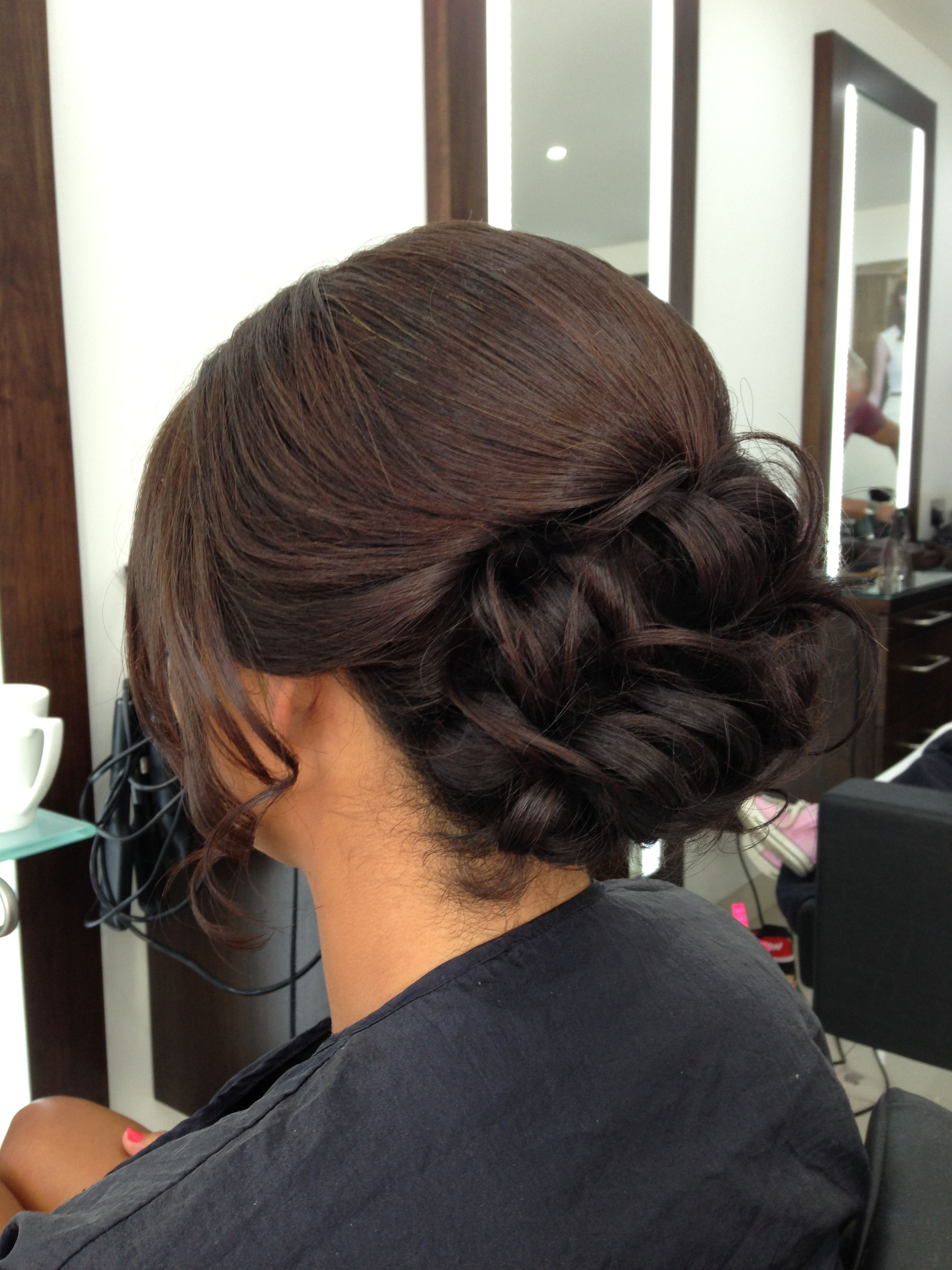 Brunette Hair Up Wedding Guest X Summer Hairstyles Dry Frizzy Hair Wedding Hairstyles