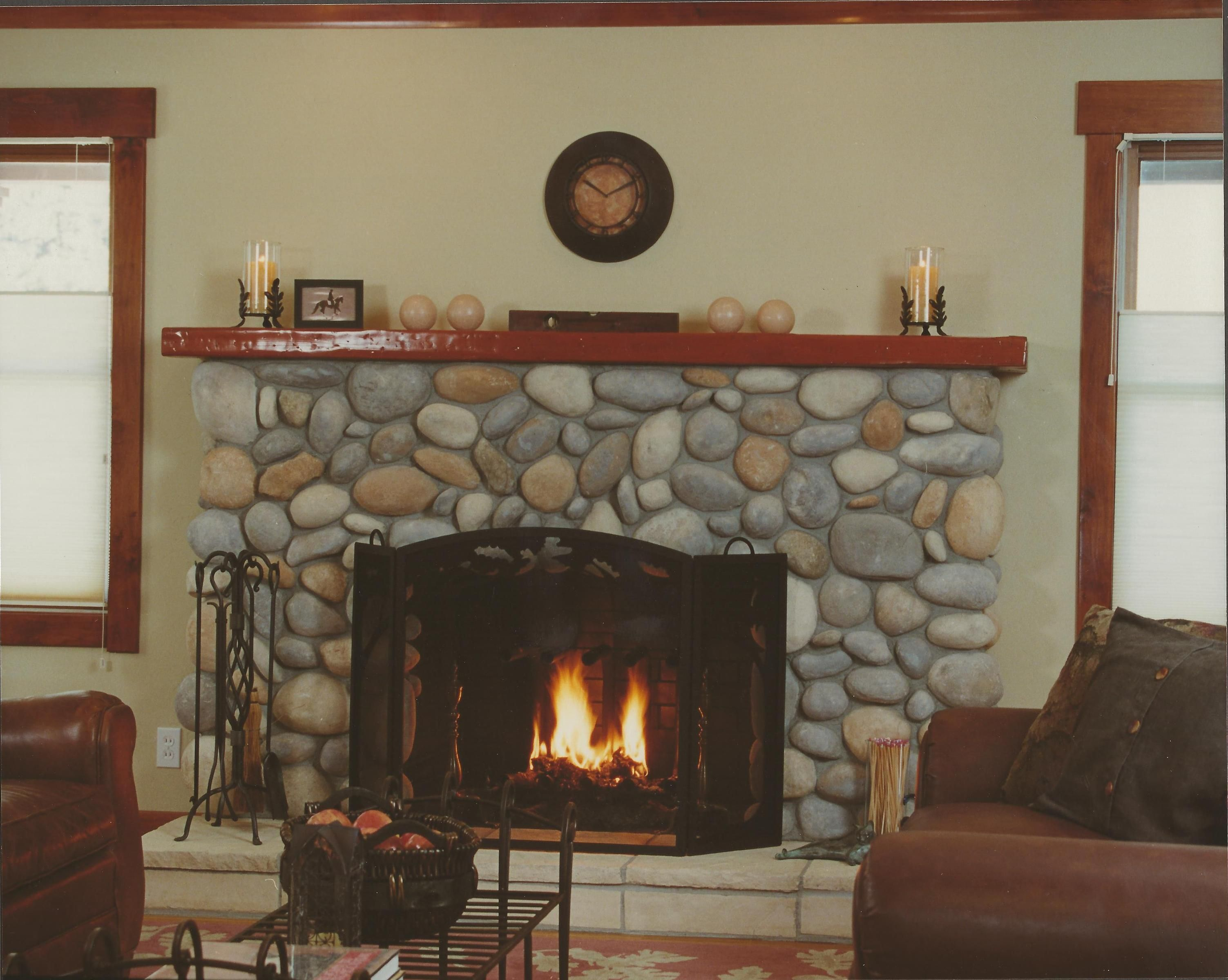 Magnificent Images For Painted River Rock Fireplace My House Home Interior And Landscaping Mentranervesignezvosmurscom