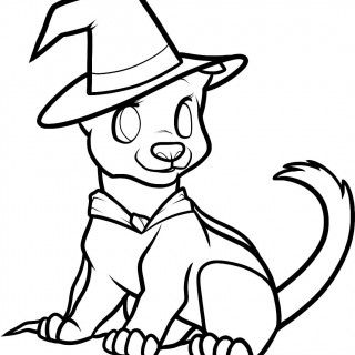Image result for halloween dog coloring pages | Halloween ...