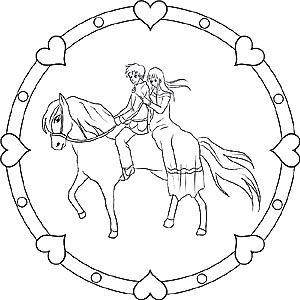 pferde und ponys - gratis mandalas als ausmalbilder für kinder | mandala pferd, ausmalbilder