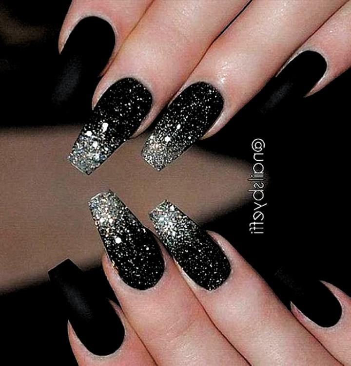 40 Most Trendy and Attractive Night Black Nails Art (Acrylic Nails Matte Nails) ... - Nail Art -   #