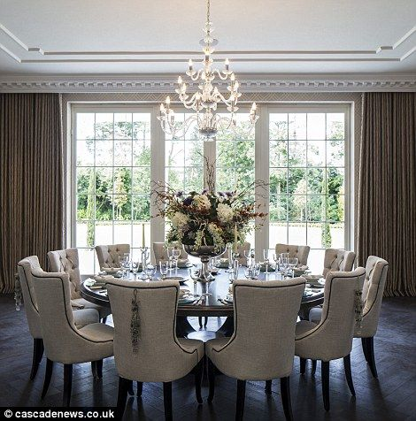 The Dining Room Seats 18 People And Is Perfect For Dinner Parties Round Dining Room Table Elegant Dining Room Round Dining Room