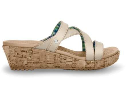 Crocs™ A-Leigh Mini Wedge Leather