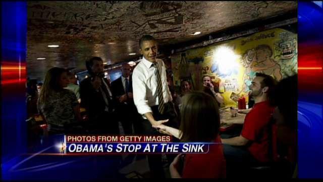 President Obama @ The Sink in Boulder.