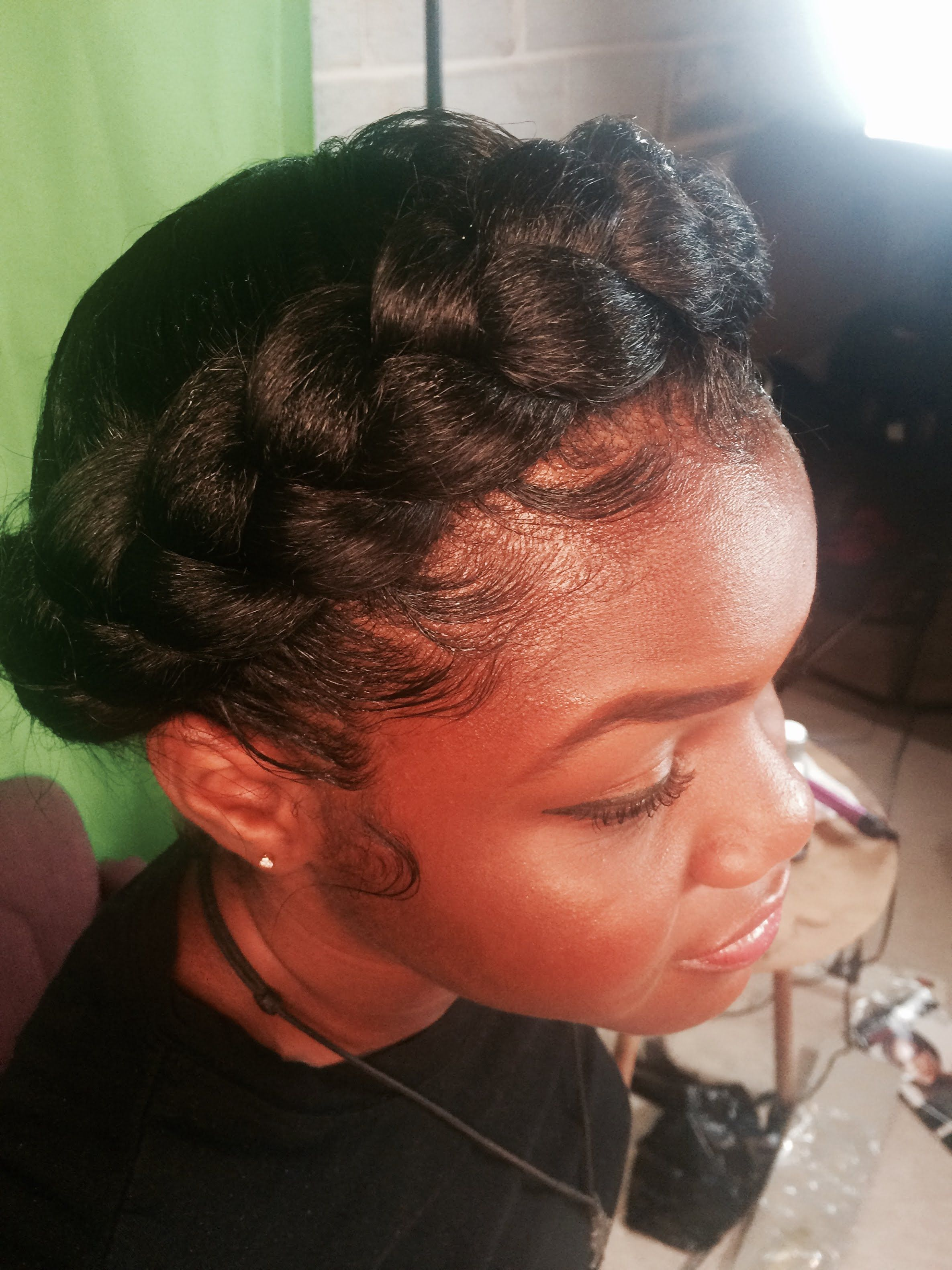 How To Do A Halo Crown Braid With Images Natural Hair Braids