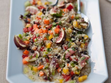 Quinoa, Sweet Peppers and Fig Salad
