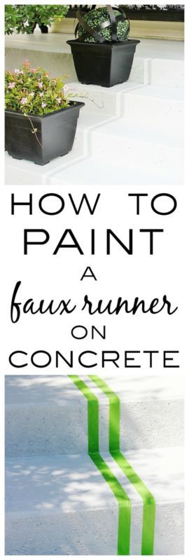 Best How To Paint A Faux Runner On Concrete Painted Concrete 400 x 300