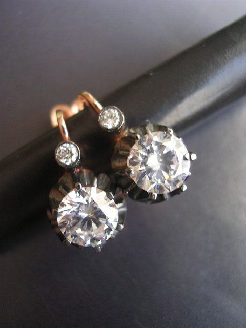 350093502 STUD EARRING rose gold antique mid century inspired sterling. $59.99, via  Etsy.