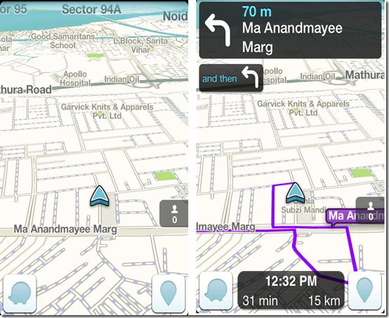 Waze iPhone GPS App With Offline Maps, Live Traffic