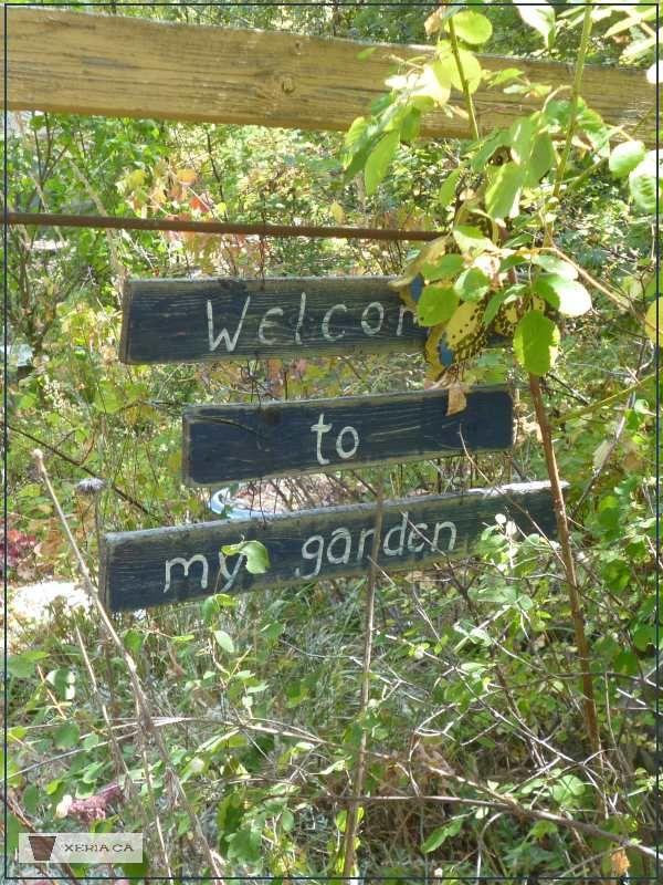 Welcome To My Garden Signs   The Triple Decker Version... Gardening | Garden  Art