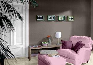 Farbgestaltung Fr Ein Wohnzimmer In Den Wandfarben Manhattan Malve Twilight