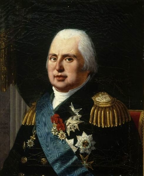 """Louis XVIII """"Le Désiré"""" (1755-1824), Roi de France et de Navarre."""