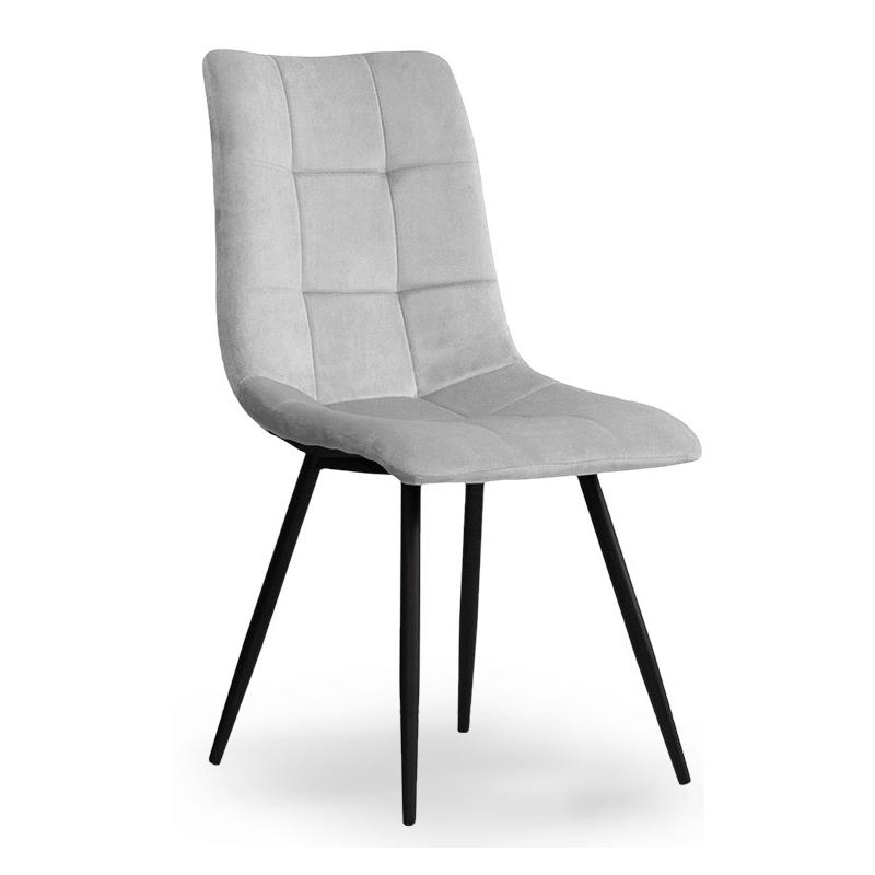 Krzeslo Tapicerowane Ben Black Velvet Jasno Szary Ciemno Szary Dobra Cena Opinie Kup Teraz Online Chair Home Decor Furniture