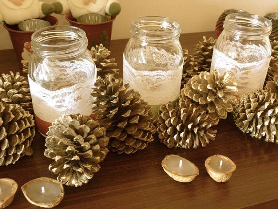 Arranjos para sua mesa de #natal   #xtimas #christmas #diy