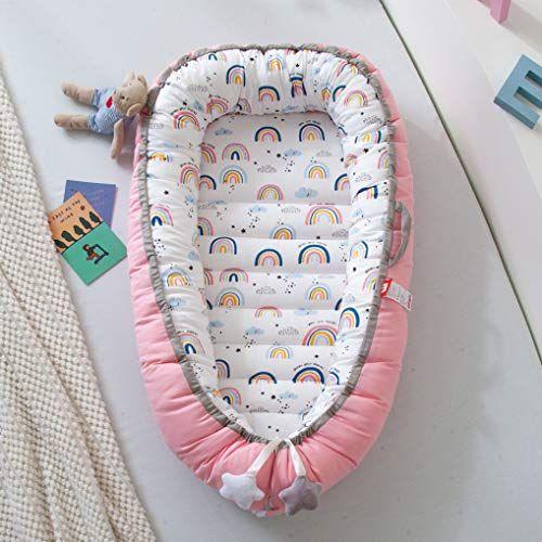Brandream Pink Baby Nest Bed Rainbow Baby Bassinet Bed ...