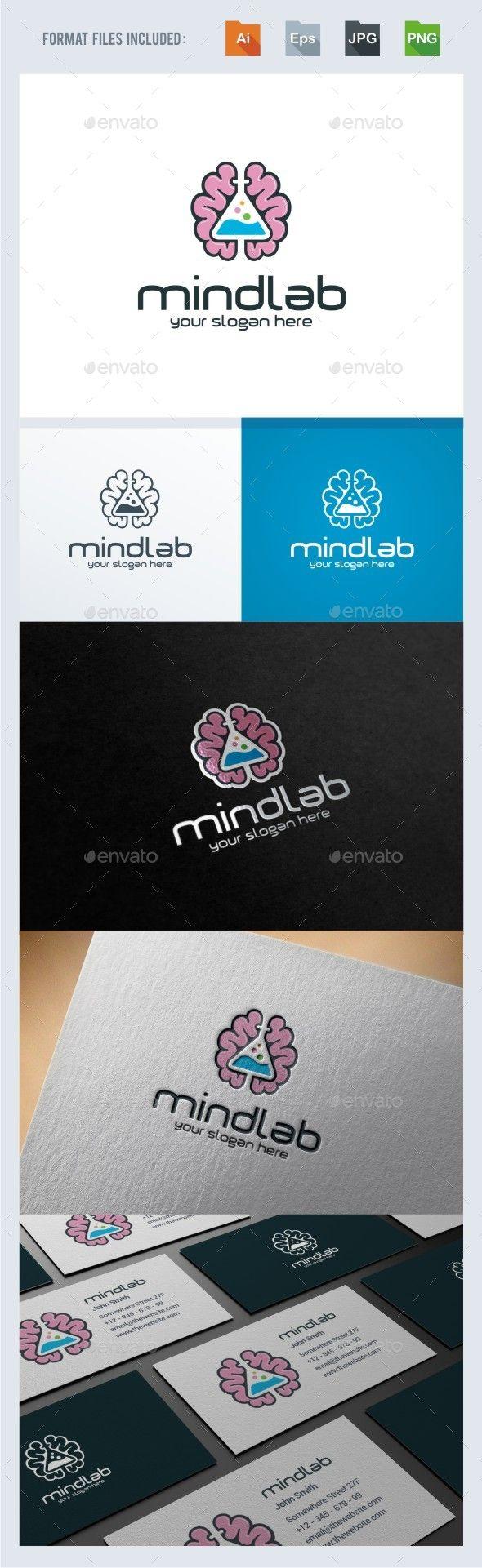 Mind Lab Logo Template | Pinterest | Ai illustrator, Logo templates ...