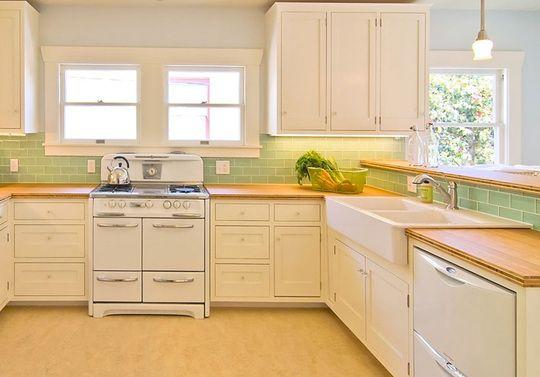 Simple, pretty kitchen.