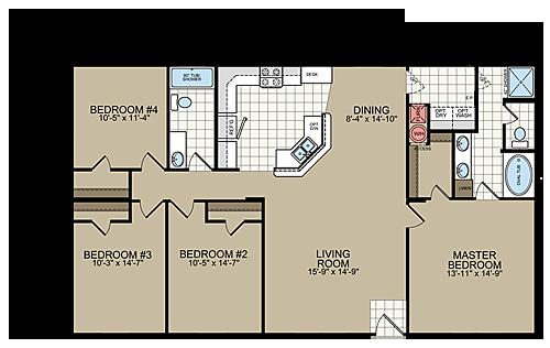 Floor Plans Sr 3252 Manufactured And Modular Homes Floor Plans Modular Homes For Sale Modular Home Floor Plans