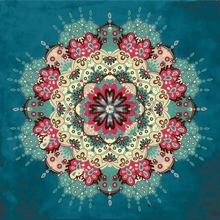 Colores de fondo redondo decorativo Foto de archivo