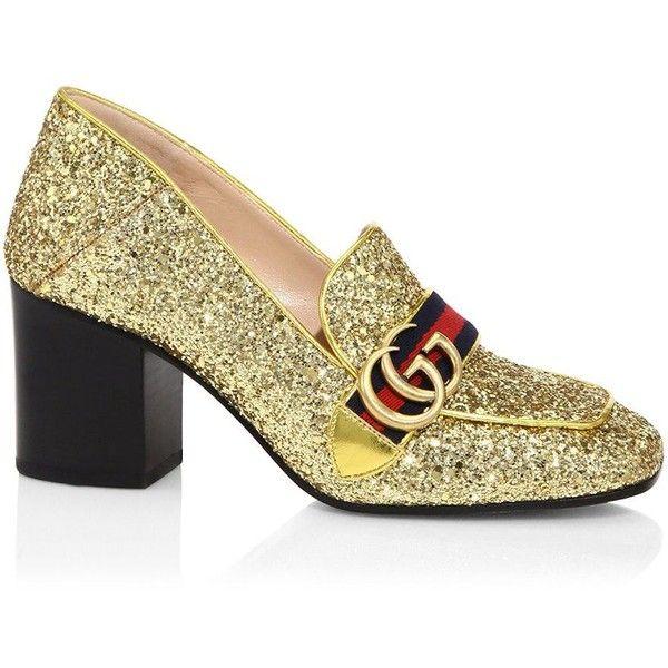 Glitter loafer pumps Gucci M22f6j