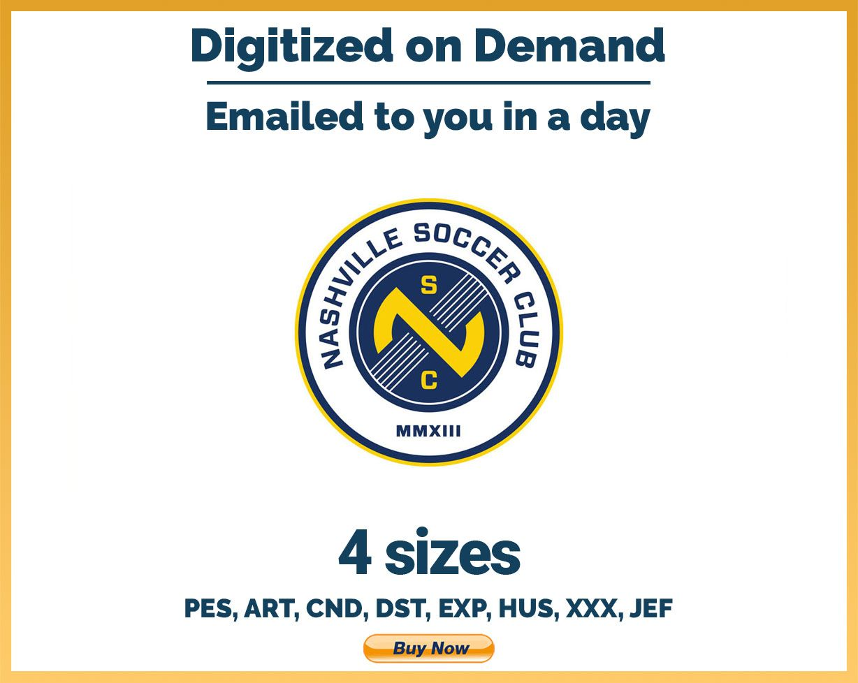 Nashville Sc Soccer Sports Logo Embroidery Design 4 Sizes