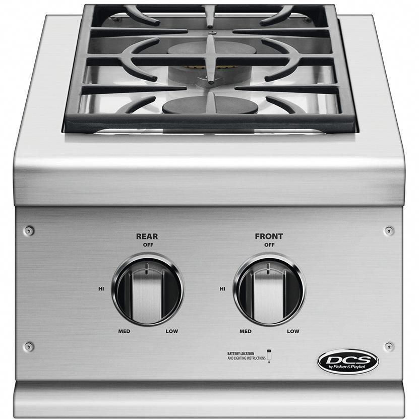 DCS Built-In Natural Gas Double Side Burner - BGC132-BI-N  BBQ Guys