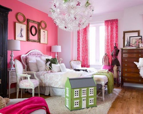 Pink Accent Wall Hot Pink Bedrooms Pink Bedroom Decor Pink