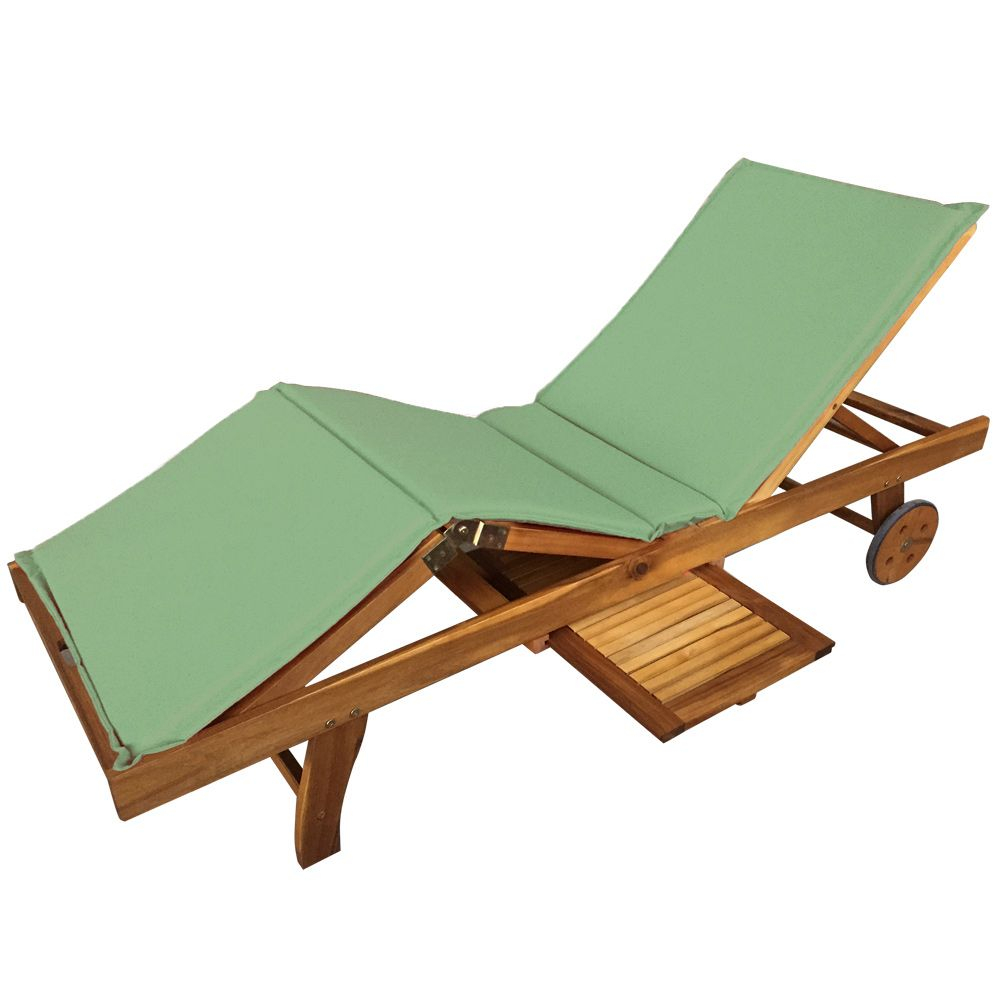 Buy Luxo Grenada Acacia Timber Outdoor Sunbed - Green ... on Luxo Living Outdoor id=18289