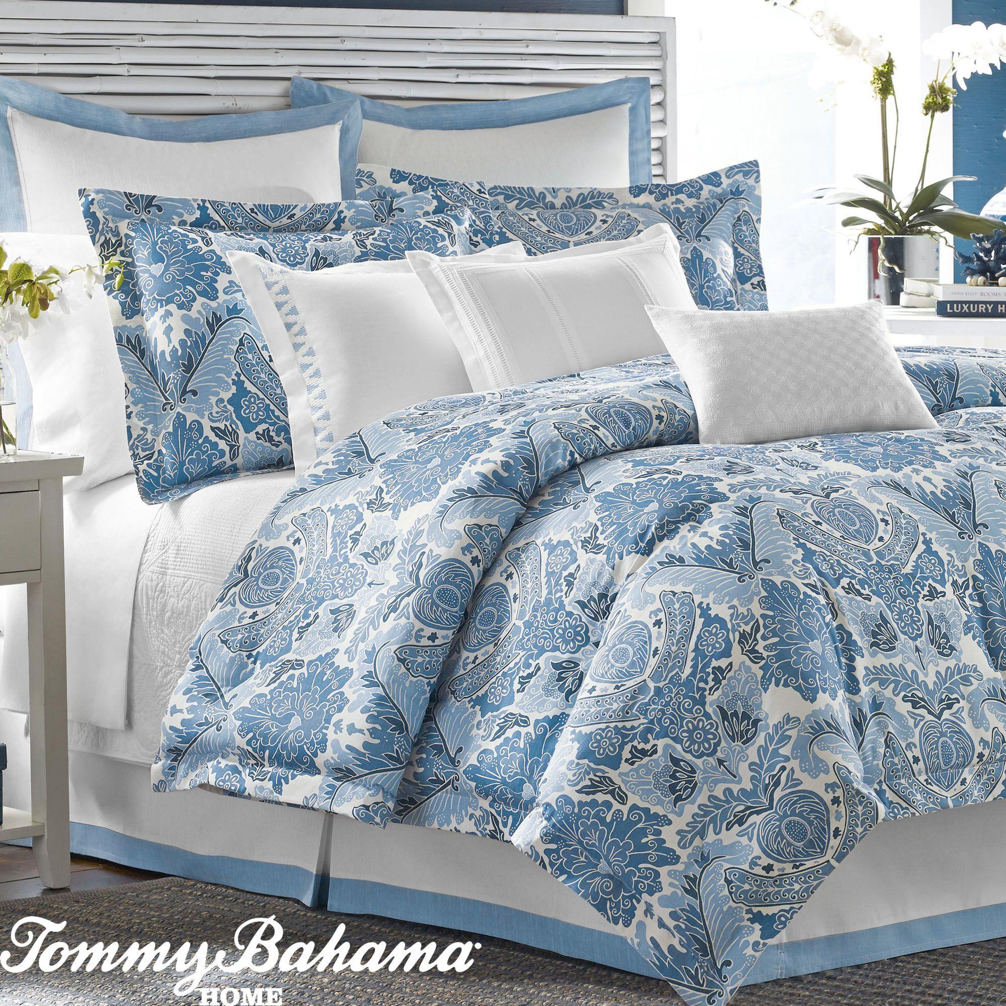 Porcelain Paradise Blue Comforter Bedding By Tommy Bahama Ensembles Literie Tommy Bahama Et Duvet