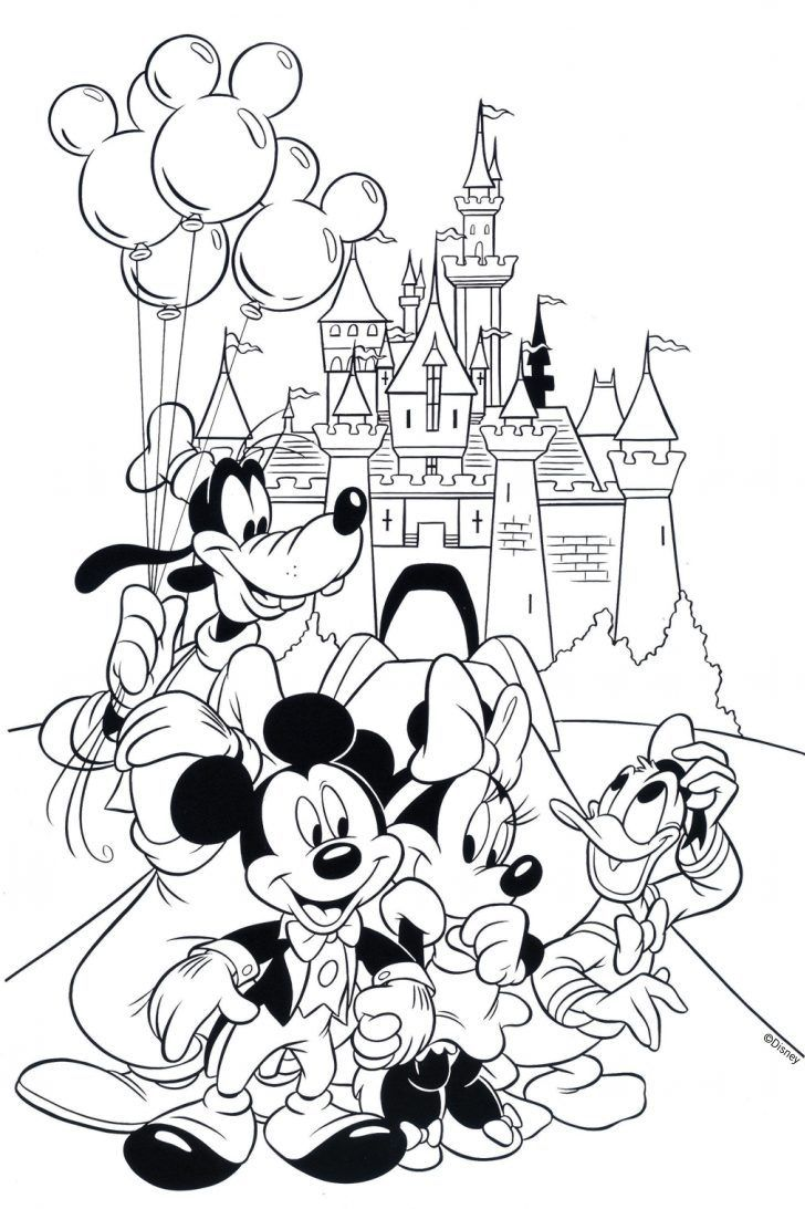 Mickey Mouse Clubhouse Coloring Pages Disney Mickey Mouse