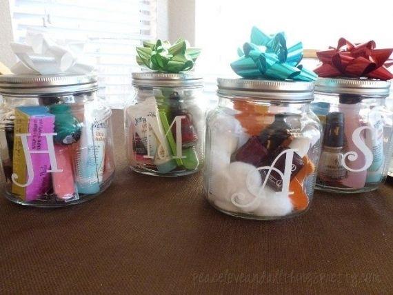 Potes De Vidro Com Kit Manicure Lembrancinha Criativa Peace