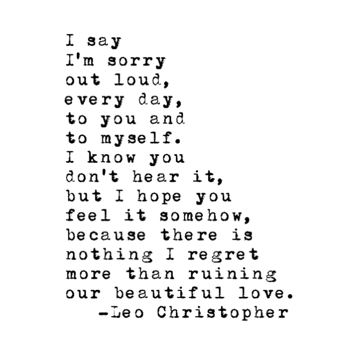 Leo Christopher • Neither Of Us Will Forgive Me