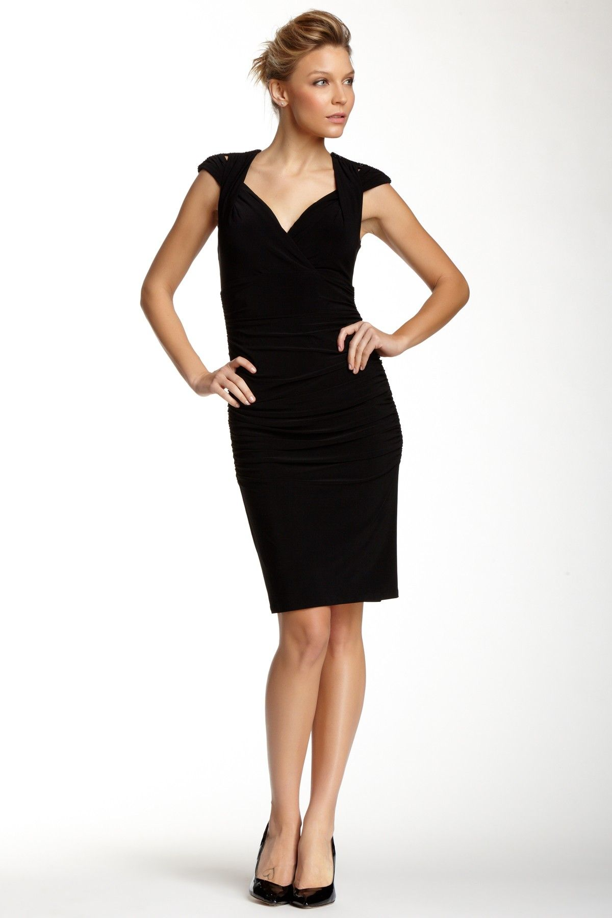 Embellished Twisted Strap Cocktail Dress   Shelli segal, Laundry and ...