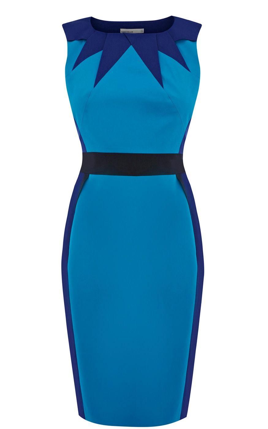 Colour-blocked dress. Karen Millen | Модели - платья. | Pinterest ...