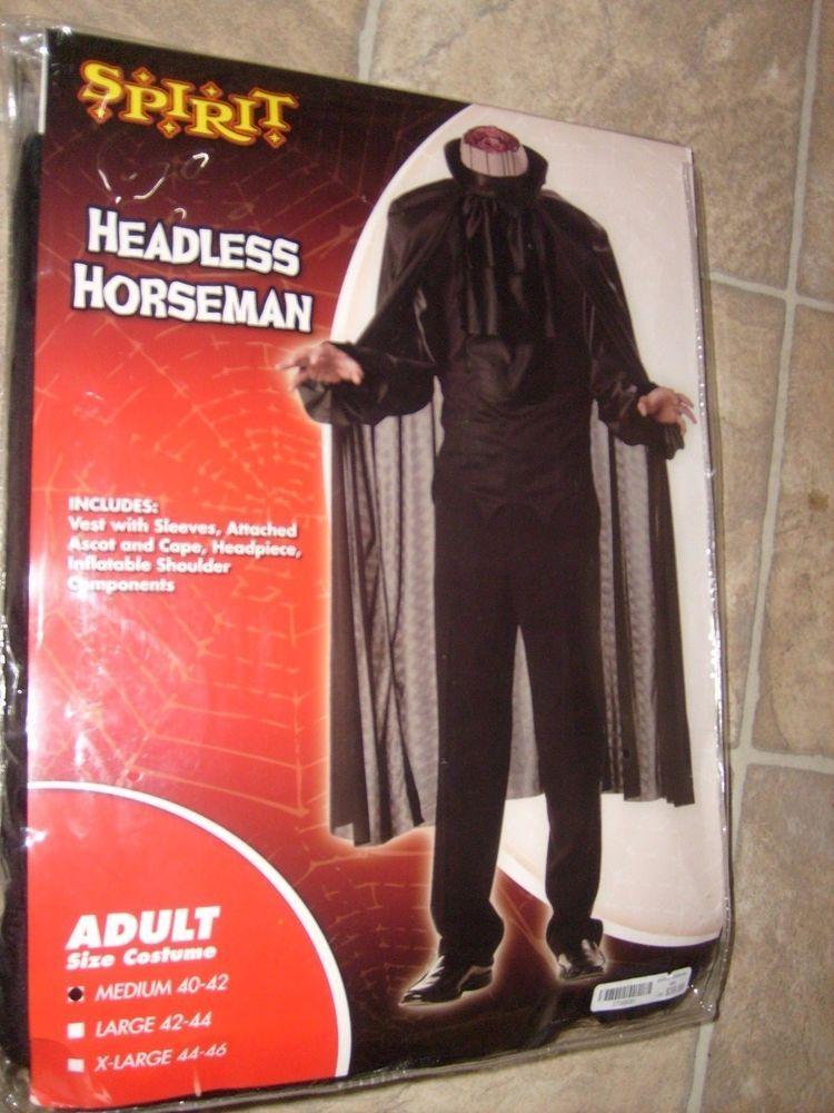 MEN'S HEADLESS HORSEMAN MEDIUM 40- 42 4 PC.HALLOWEEN COSTUME NEW  SPIRIT #HALLOWEENCOSTUME #CompleteOutfit