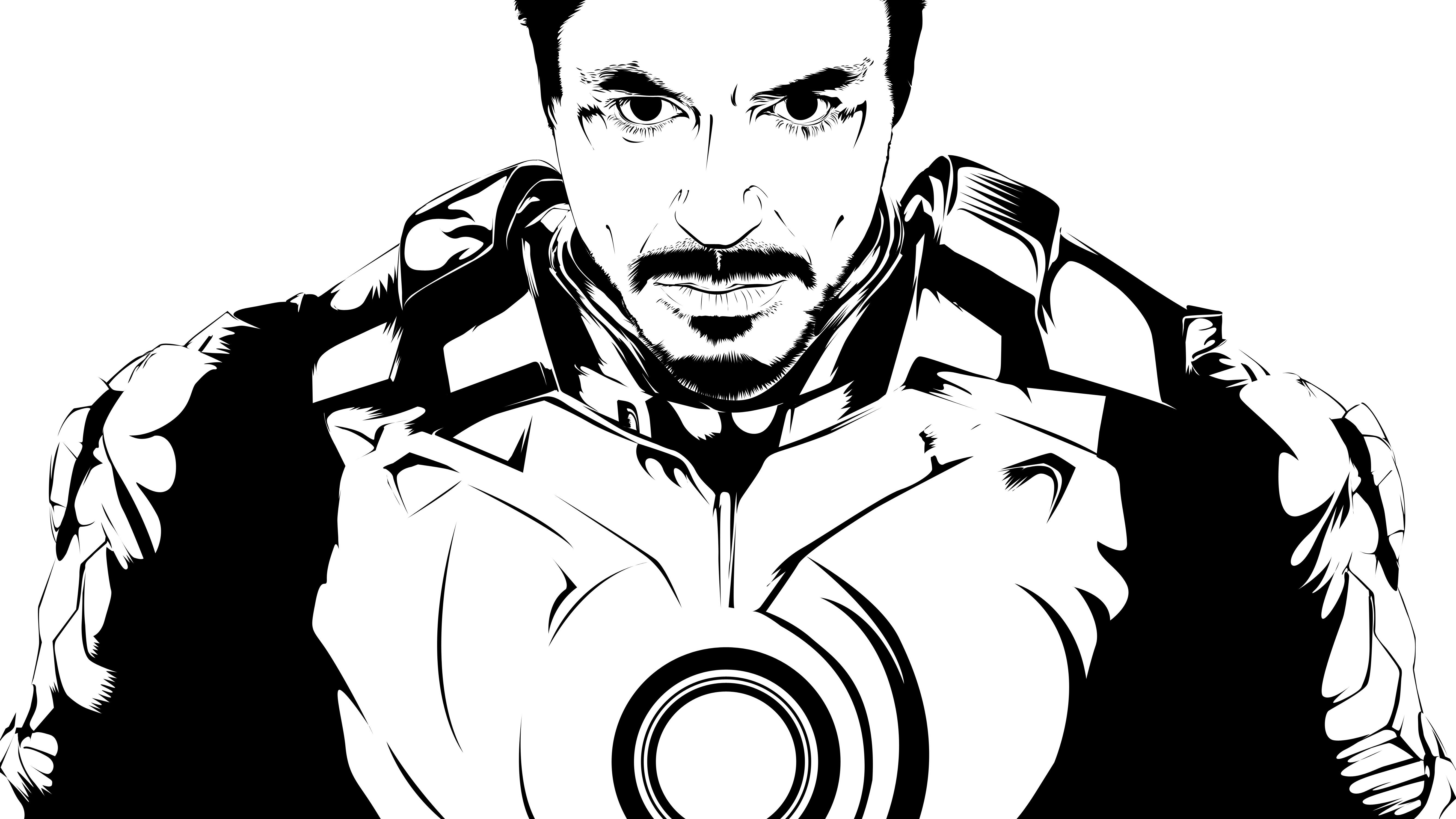 Pin By Andrea Perez On Vectores Iron Man Drawings Iron Man Black Line Art
