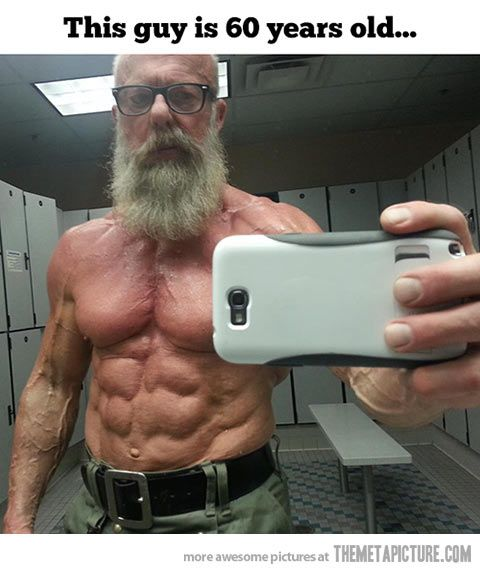 Badass old man... - The Meta Picture