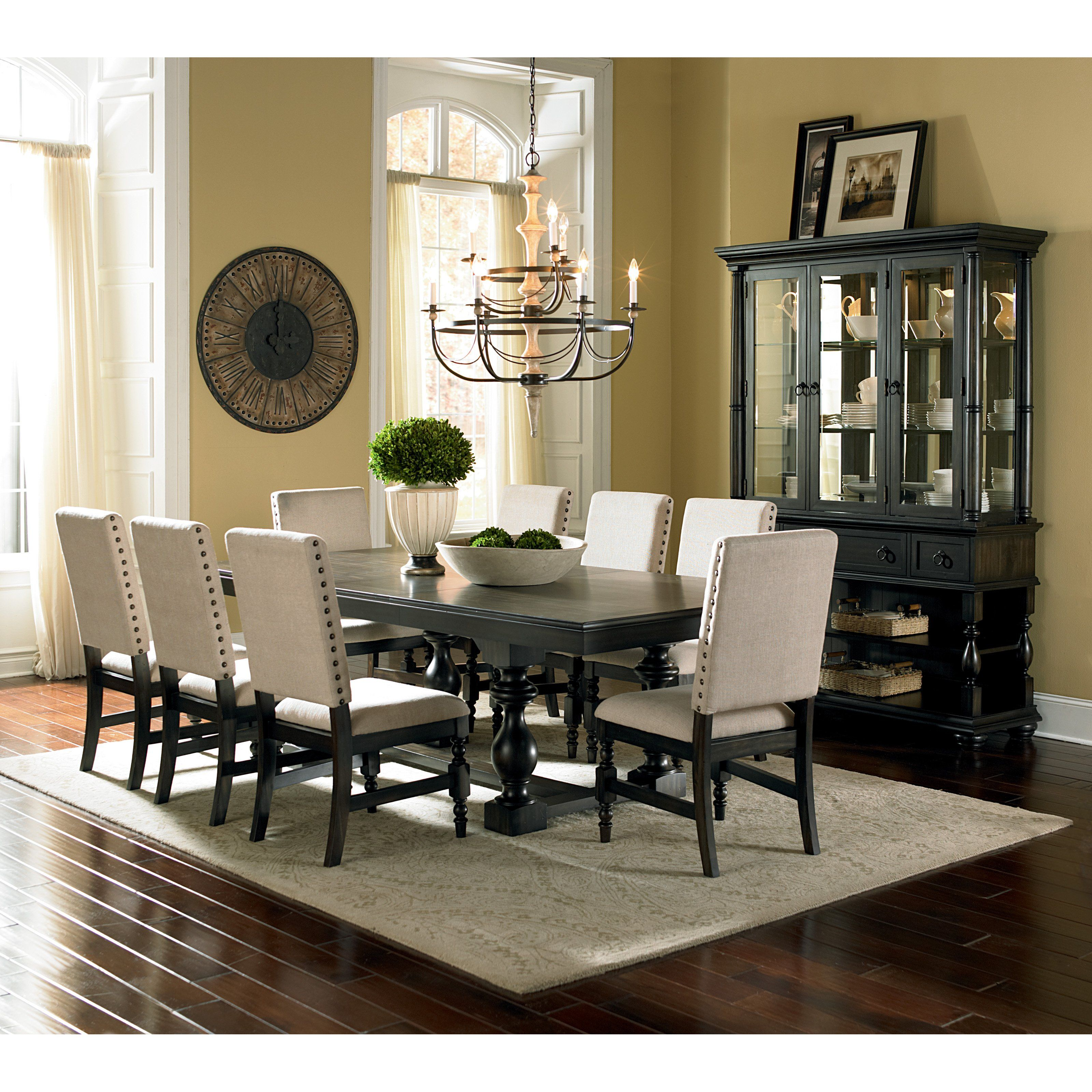 Have to have it. Steve Silver Leona 9 Piece Dining Table Set ...