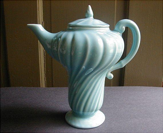 Antique Franciscan Pottery Gladding McBean Coronado Aqua