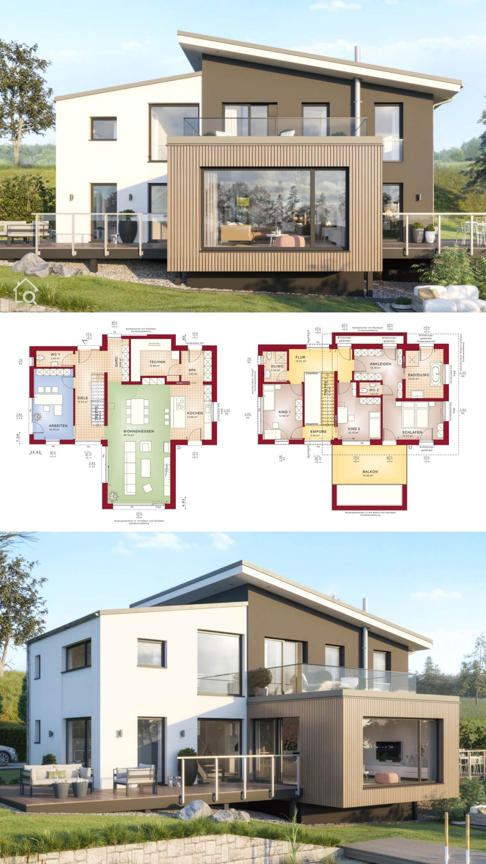 Single Family House Architecture Modern With A Lean To Roof Xl Bay Window Us Floor Plan Ideas W In 2020 Architecture House Modern Family House Modern Architecture
