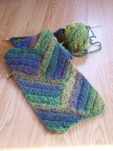 Row Counting Tips for Wavy Scarf Knitting Pattern | Easy Knitting ...