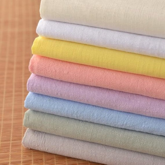 Natural Charm Solid Light Gray Grey Muslin Soft 100/% cotton fabric by the yard