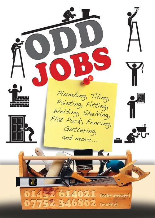 odd jobs flyer graphic design handyman pinterest business cards business and business. Black Bedroom Furniture Sets. Home Design Ideas