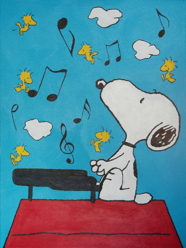 Snoopy au piano by Vincent2000 on DeviantArt