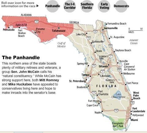 florida map of the panhandle