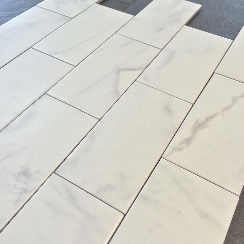 "Classic Carrara Marble Bathrooms: Carrara 3"" X 6"" Subway Tile Matte Finish"
