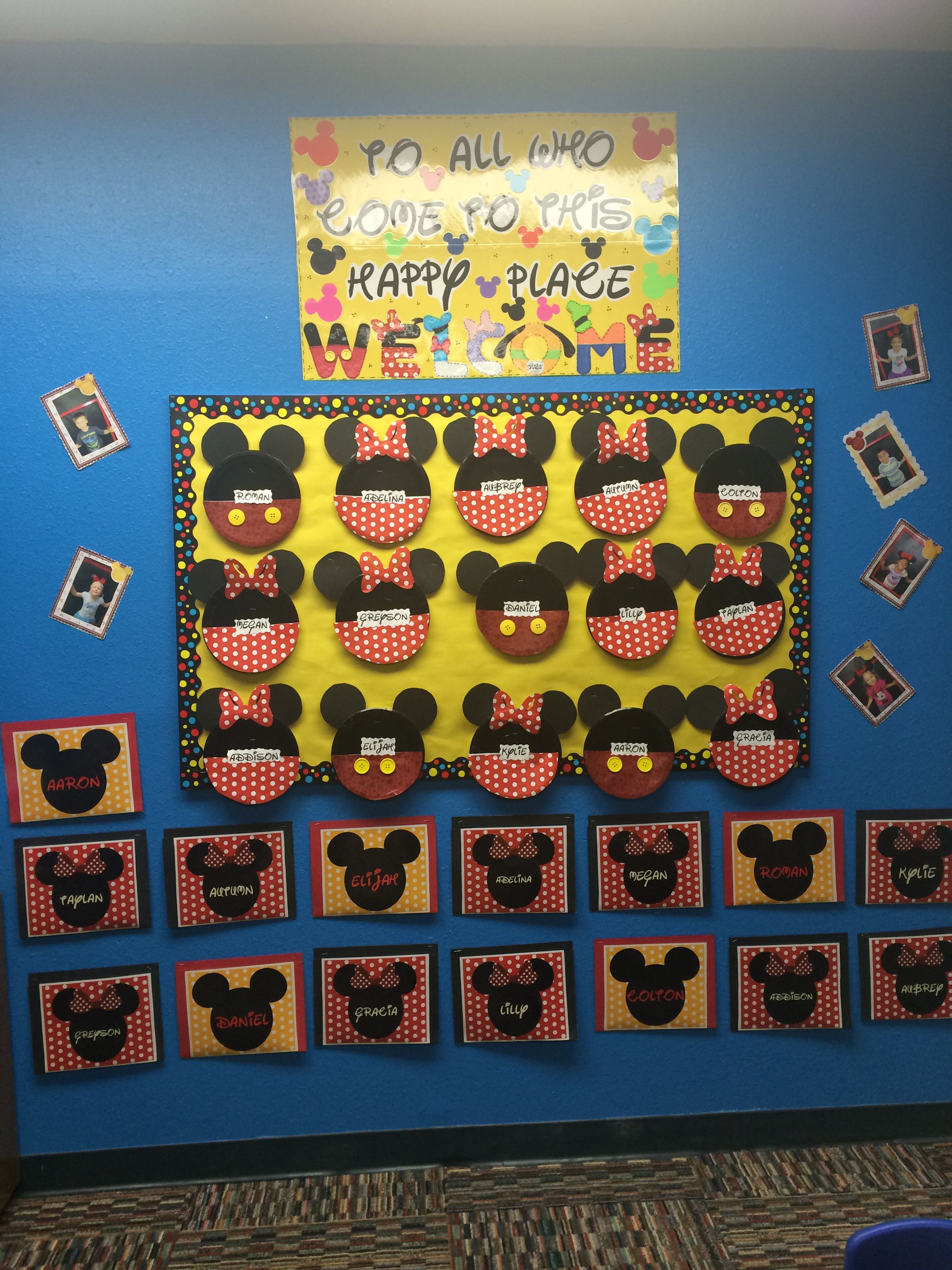 Disney Bulletin Board To All Who Come To This Happy