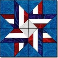 """6"""". Cre8tive Quilter: Block of the Week – Block #38 – Interwoven Star – Green County"""